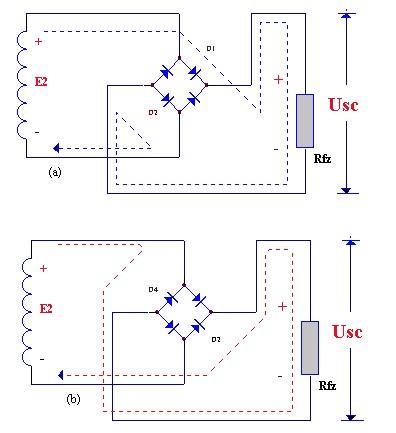 桥式整流电路结构图和工作原理图如下所示: 桥式整流器电路图