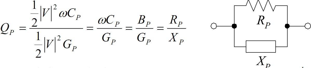 并联谐振,等效导纳为yp=gp jbp,若为