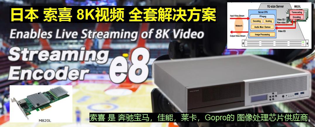 日本索喜 8K视频解决方案
